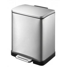 """Кош за отпадъци с педал """"E-CUBE"""" - 12 литра - мат EKO"""
