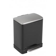 """Кош за отпадъци с педал """"E-CUBE"""" - 12 литра - черен EKO"""