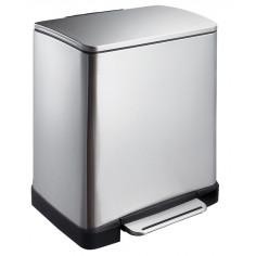 """Кош за разделно събиране на отпадъци с педал """"E-CUBE"""" - (10 + 9) литра - мат EKO"""