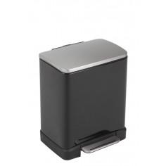 """Кош за разделно събиране на отпадъци с педал """"E-CUBE"""" - (10 + 9) литра - черен EKO"""