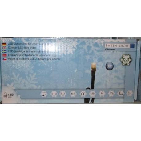 Led светлинна верига - външна, 80 лампички, 22 м, 5,12 W