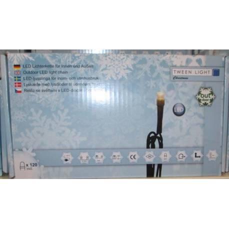 Led светлинна верига - външна, 120 лампички, 28 м, 7,68 W