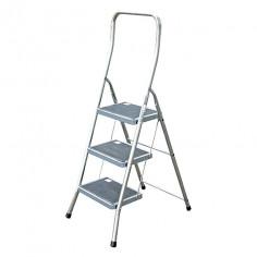 Сгъваема алуминиева стълба - 3 стъпала