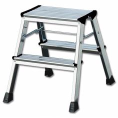 Сгъваема алуминиева стълба - 2х2 стъпала