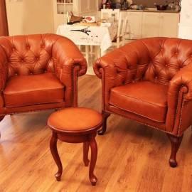 Честър - кожено кресло