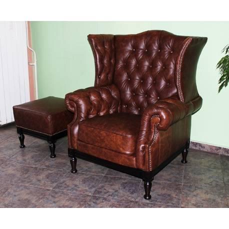 Дъблин - кожено кресло, фотьойл