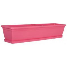 Сандъче за цветя, 80 см, розово