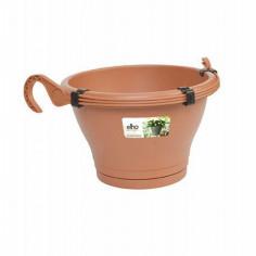 Висяща саксия за цветя - 30 см, кафява