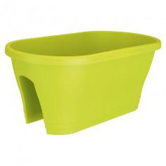 Сандъче за парапет, 58х30х24 см, лимонено зелено, гланц