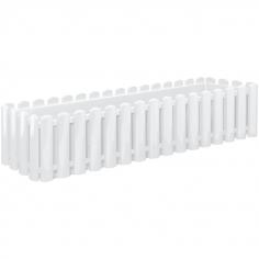 Балконско сандъче за цветя, бяло, дължина 74 см