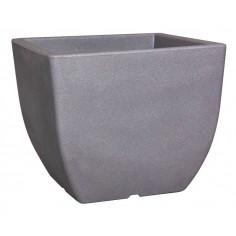 Саксия за цветя - 30x30 см, сива