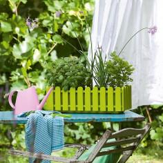 Балконско сандъче за цветя, ментово зелено, дължина 47 см