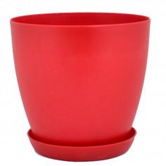 Imagén: Саксия за цветя, цвят червен 22/21 см