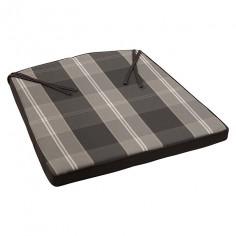 Възглавница за кресло сиво каре - 45х49х4 см