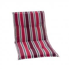 Възглавница за стол с ниска облегалка, червено рае - 98x49x6 см
