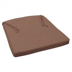 Възлавница за кресло, кафява - 45х49х4 см