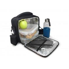 Vin Bouquet/Nerthus Термоизолираща чанта за храна с 2 джоба - черен цвят