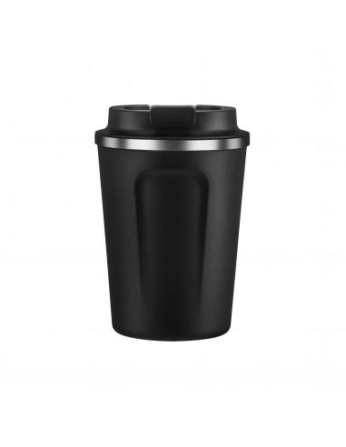 """Двустенна термо чаша с вакуумна изолация """"CAFE COMPACT"""" - 380 мл - цвят черен - ASOBU"""