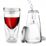 "Тристенна охлаждаща чаша за вино с капак ""ICE VINO 2GO"" - 300 мл - ASOBU"