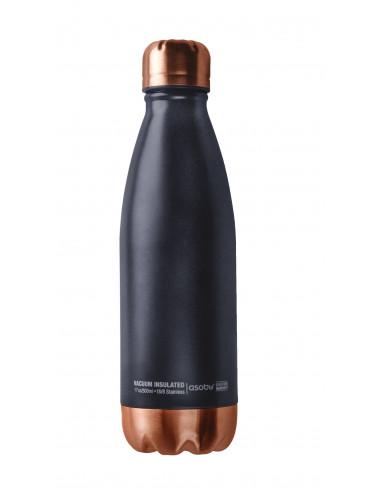 """Двустенна термо бутилка с вакуумна изолация """"CENTRAL PARK"""" - 500 мл - цвят черен/мед - ASOBU"""