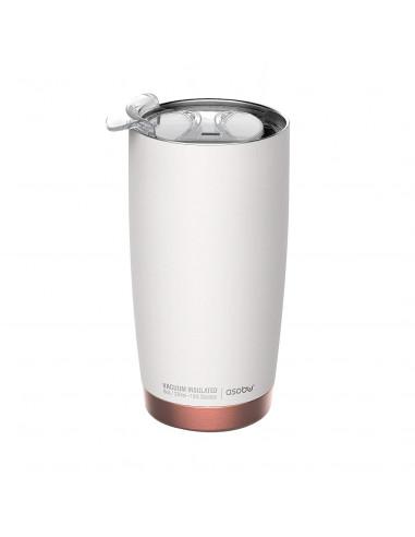 """Двустенна термо чаша с вакуумна изолация """"GLADIATOR"""" - 600 мл - цвят бял/мед - ASOBU"""