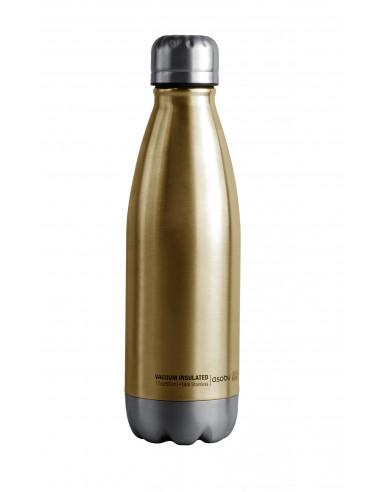 """Двустенна термо бутилка с вакуумна изолация """"CENTRAL PARK"""" - 500 мл - цвят златиста/сребриста - ASOBU"""