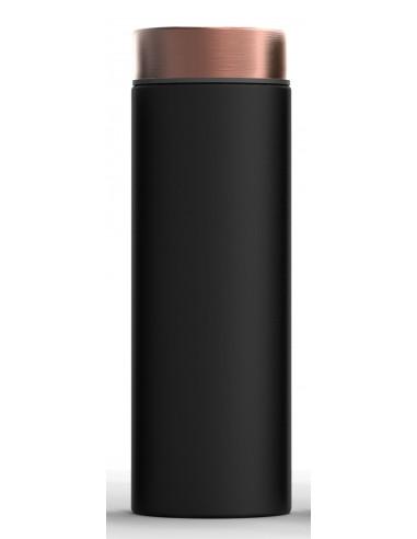 """Двустенна термо бутилка с вакуумна изолация """"LE BATON"""" - 500 мл - цвят черен/мед - ASOBU"""