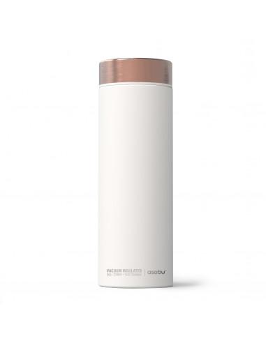 """Двустенна термо бутилка с вакуумна изолация """"LE BATON"""" - 500 мл - цвят бял/мед - ASOBU"""