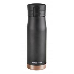 """Двустенен термос с вакуумна изолация """"LIBERTY"""" - 500 мл - цвят черен/мед - ASOBU"""