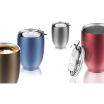 """Двустенна термо чаша с вакуумна изолация """"IMPERIAL"""" - 300 мл - цвят син - ASOBU"""