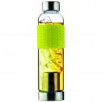 """Стъклена термо бутилка с филтър за чай """"ICE T 2 GO"""" - 400 мл - цвят жълт - ASOBU"""
