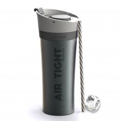"""Двустенна термо чаша """"FRESH N GO"""" с вакуумна изолация и система AIR PUMP - 500 мл - цвят графит - ASOBU"""