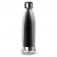 "Двустенна термо бутилка ""VIVA LA VIE"" - 525 мл - цвят черен - ASOBU"
