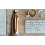 "Двустенна термо бутилка ""VIVA LA VIE"" - 525 мл - цвят мед - ASOBU"