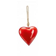 """Сувенир сърце """"HAMBURGER"""" - M размер - цвят светло червен -  Philippi"""