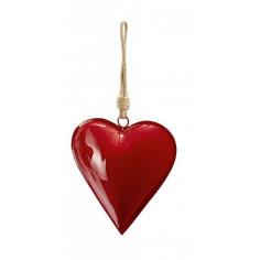 """Сувенир сърце """"HAMBURGER"""" - L размер - цвят тъмно червен -  Philippi"""