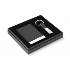 """Бизнес подарък """"TODD"""" от 2 части - визитник и ключодържател - цвят антрацит -  Philippi"""