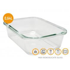 Стъклена кутия за храна с херметическо затваряне - 640 мл. - Vin bouquet