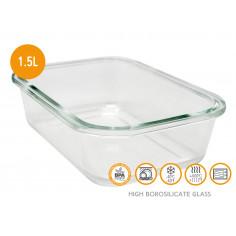 Стъклена кутия за храна с херметическо затваряне - 1,5 л. - Vin bouquet