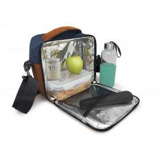 Термоизолираща чанта за храна с 2 джоба - син цвят - Vin bouquet