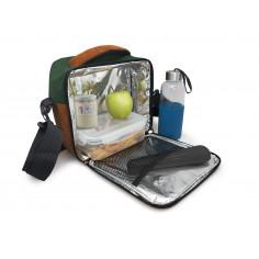 Термоизолираща чанта за храна с 2 джоба - зелен цвят - Vin bouquet
