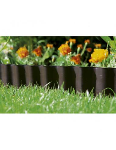 Мини лента за цветни лехи, кафява - 9 м x20 см