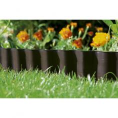 Мини лента за цветни лехи, кафява - 9 м x 9 см