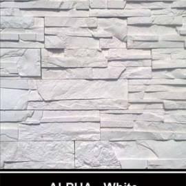 Alfa - облицовъчен камък - бял