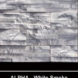 Alfa - облицовъчен камък - white smoke