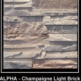 Alfa - облицовъчен камък - champagne light
