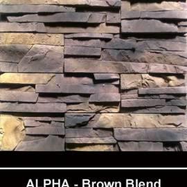 Alfa - облицовъчен камък - brown