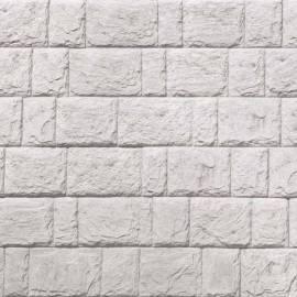 Декоративни панели Дялан камък - 120 x 20 x 3,3 см, цвят бял