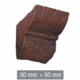 Imagén: Конзола за полиуретанова греда - тъмна - 9см - 6см