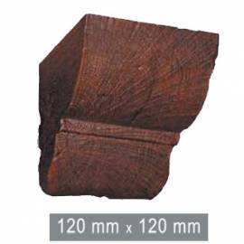 Конзола за полиуретанова греда - тъмна 12см - 12см